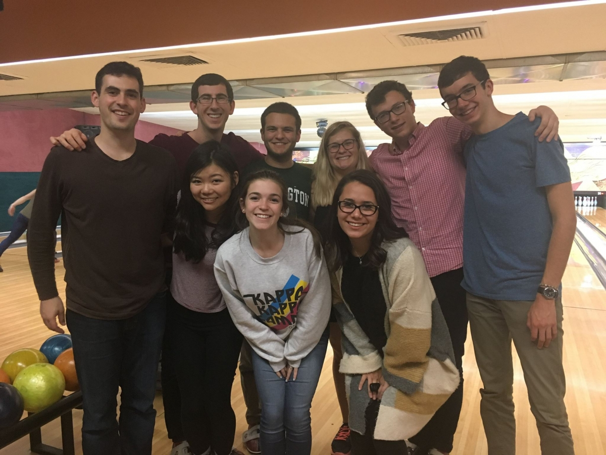Staam went bowling during finals for some ~stress relief~